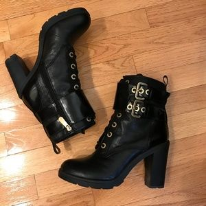 Guess Finlay Black Leather Boots